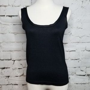 Linda Allard Ellen Tracy Silk Tanktop Sweater